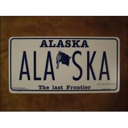 "Schild ""Alaska"""