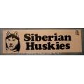 "Aufkleber ""Husky Kopf"" mit Schriftzug ""Siberian Huskies"""