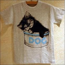 """T-Shirt mit Druck """"Katze Topf"""", Gr. 128"""