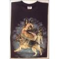 """T-Shirt mit Druck """"Schäferhund"""", Gr. L"""