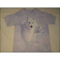 "T-Shirt Batik ""Graceful White Wolves"" Gr.S (98-104)"