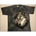 """T-Shirt Batik """"Wolf Portait"""" Gr.M (116-128)"""