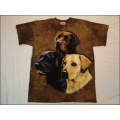 "T-Shirt Batik ""Labrador Collage"" Gr.M"