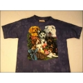 "T-Shirt Batik ""Puppy Collage"" Gr.L (140-152)"