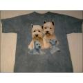 """T-Shirt Batik """"West Highland Terriers"""" Gr.L (140-152)"""