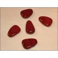 Jaspis rot Heilstein gebohrt in Tropfenform