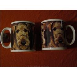 "Tasse ""Airedale Terrier Trio"""