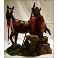 Pferd mit Indianer