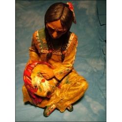 Indianer sitzend mit Shield