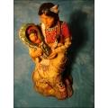 Indianerin sitzend mit Baby
