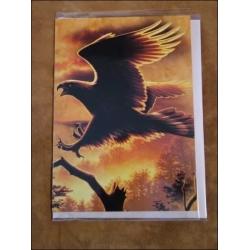 """Tree Free Grußkarte """"Adler Landungf"""" baumfrei Tree Free mit Umschlag"""