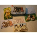 """Tree Free """"Playful Pups"""" Karten-Set mit 12 Karten + Umschlägen + vier verschiedene Motive in Blechbox"""